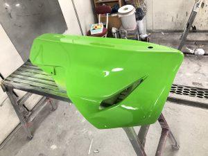 カワサキライムグリーン パーツ塗装